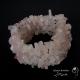 دستبند خرده سنگ رز کوارتز Rose quartz