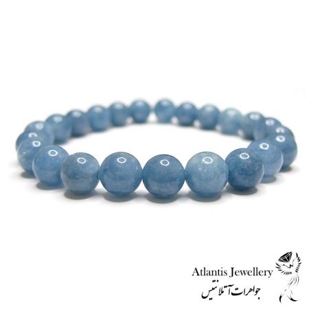 دستبند مهره ای  سنگ آکوامارین Aquamarine