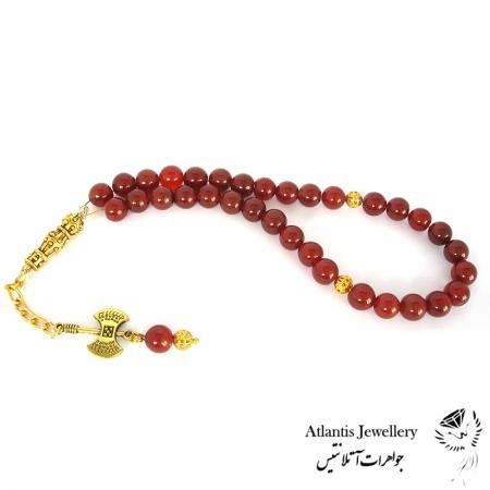 تسبیح 33 مهره سنگ عقیق قرمز Red Agate