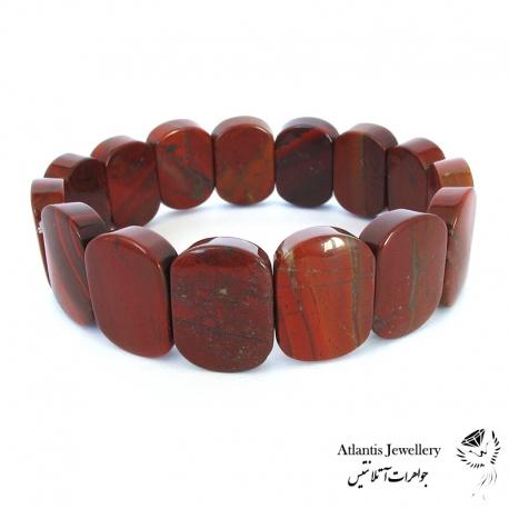 دستبند پهن سنگ جاسپربرسیات Brecciated Jasper