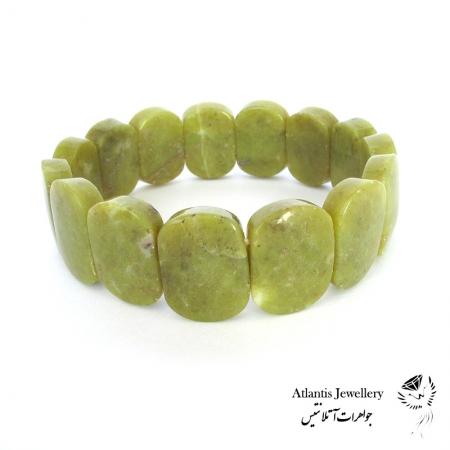 دستبند پهن سنگ جید (یشم) Jade