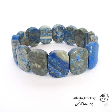 دستبند پهن سنگ لاجورد Lapis Lazuli